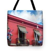 Red Building And Alebrije Tote Bag