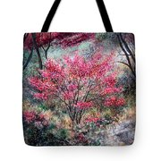 Red Bush Tote Bag