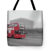 Red Buss In London Tote Bag
