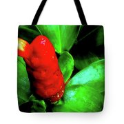 Red Button Ginger Tote Bag