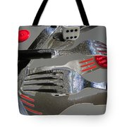 Red Button Impact Tote Bag