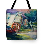 Red Cafe Tote Bag