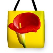 Red Calla Lilly  Tote Bag