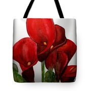 Red Callas Tote Bag