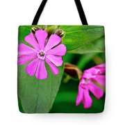 Red Campion - Fairy Flower. Tote Bag