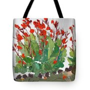 Red Canna  Tote Bag