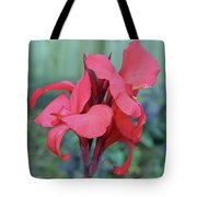 Red Canna Lily Floral Tote Bag