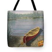 Red Canoe 3  Tote Bag
