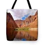 Red Canyon Reflections Tote Bag