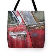 Red Car Door Handle Tote Bag
