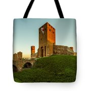 Red Castle Of Czersk Tote Bag by