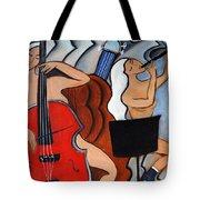 Red Cello 2 Tote Bag