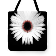 Red Center Daisy Tote Bag
