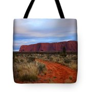 Red Center Dawn Tote Bag