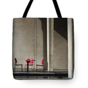 Red Chairs Tote Bag