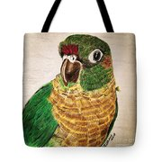 Green Cheeked Conure Tote Bag