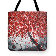 Red Cherry Tree Tote Bag