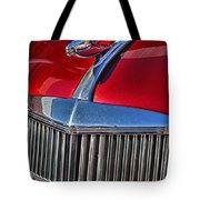 Red Chevrolet Grill And Hood Ornament Tote Bag