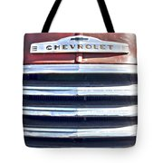 Red Chevrolet Grill Tote Bag