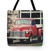 Red Chevrolet Tote Bag