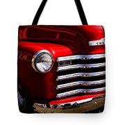 Red Chevy Truck Tote Bag