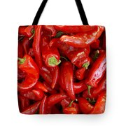 Red Chile Peppers  Tote Bag