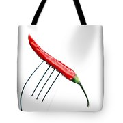Red Chili Pepper On A Fork Tote Bag