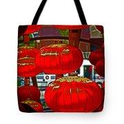 Red Chinese Lanterns Tote Bag