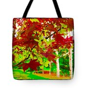 Red Chinese Maple Leaf's Tote Bag