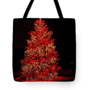 Red Christmas Tree Tote Bag
