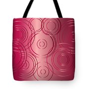 Red Circle Background Tote Bag