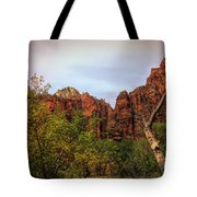 Red Cliffs Mountains Zion National Park Utah Usa Tote Bag