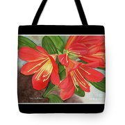 Red Clivias - Watercolor Tote Bag