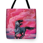 Red Cloud Horse Tote Bag