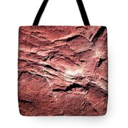 Red Colored Limestone With Grooves Tote Bag