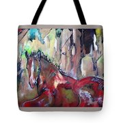 Red Colt Tote Bag