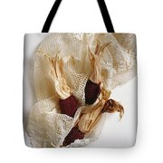 Red Corn On The Cob And Lace Tote Bag