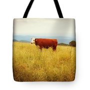 Red Cow On The Blue Ridge Tote Bag