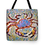 Red Crab Stained Glass Tote Bag
