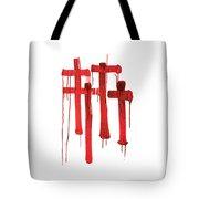 Red Crosses Tote Bag