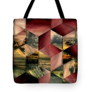 Red Cube Textures Tote Bag
