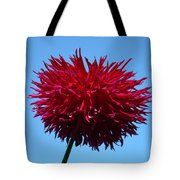 Red Dahlia Purple Dahlia Flower Art Prints Baslee Troutman Tote Bag