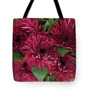 Red Daisies Bouquet Tote Bag