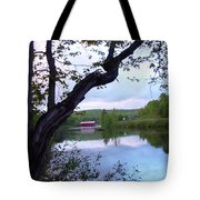 Red Dam In Summer #1 Tote Bag
