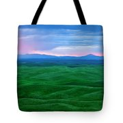 Red Dawn Over The Palouse Tote Bag