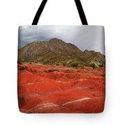 Red Desert Landscape Torotoro National Park Bolivia Tote Bag