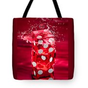 Red Dice Splash Tote Bag