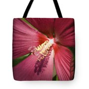 Red Disco Belle Hibiscus Painting Tote Bag