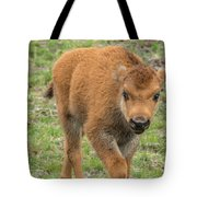Red Dog Bison In Yellowstone Tote Bag