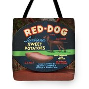 Red Dog Sweet Potatoes Tote Bag